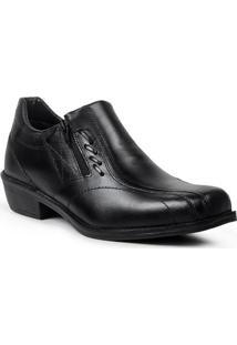 Sapato Loafer Masculino Em Couro Polo State Volk Preto