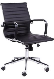 Jogo De Cadeiras Office Eames Esteirinha- Preto & Prateaor Design