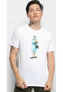 Camiseta Cavalera T Shirt Skate Queen Masculina - Masculino-Branco