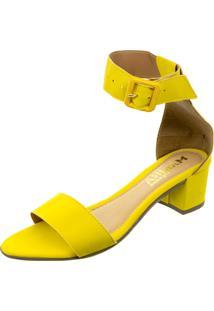 Sandalia Mariha Calçados Maxi Fivela Amarela - Kanui