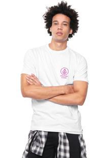 Camiseta Volcom Slim Crowd Control Branca