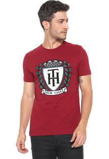 Camiseta Tommy Hilfiger Crest Fashion Vermelha