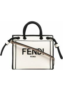 Fendi Small Roma Tote Bag - Branco