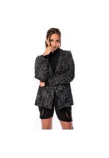 Blazer Alongado Tweed Shine