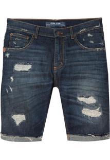 Bermuda John John Clássica Paranaguá Jeans Azul Masculina (Jeans Escuro, 38)