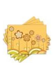 Jogo Americano - Flores Com 4 Peças - 118Jo