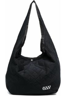 White Mountaineering Quilted Shoulder Bag - Preto