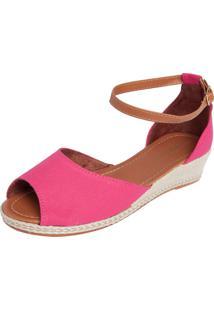 Sandália Dafiti Shoes Espadrille Salto Baixo Rosa
