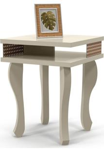 Mesa Lateral Quadrada Luminos Off White