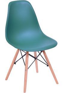 Cadeira Eames Dkr- Azul Petrã³Leo & Bege- 80,5X46,5X4Or Design