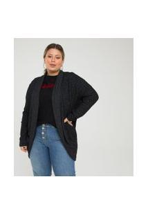 Casaco Liso Curve & Plus Size | Ashua Curve E Plus Size | Preto | Gg