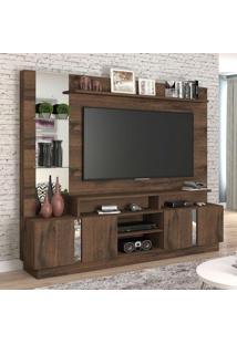 Estante Para Home Theater E Tv 60 Polegadas Munique Café 200 Cm