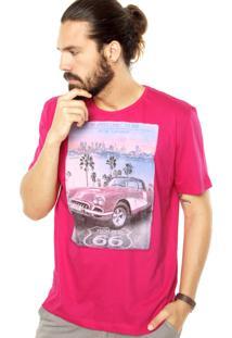 Camiseta Sommer Route 66 Rosa