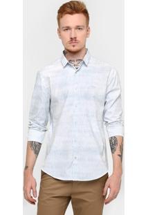 Camisa Calvin Klein Slim Full Print - Masculino