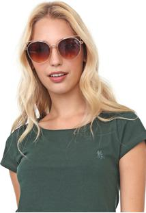 Camiseta Polo Wear Lisa Verde
