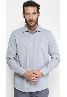 Camisa Victory Eagle Slim Fit Masculina - Masculino-Cinza