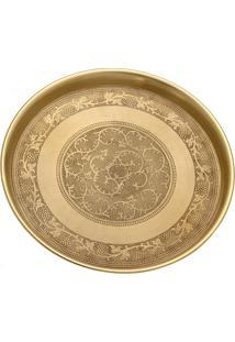 Bandeja Decorativa Abstrata- Dourada- 10Xø43,5Cmmabruk