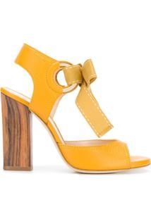 Lanvin Sandália Com Amarração - Amarelo