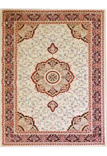 Tapete Mashhad Retangular Veludo 98X150 Cm Creme