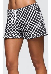 Shorts De Bolinhas Com 2 Unidades Preto