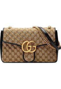 Gucci Medium Gg Marmont Shoulder Bag - Neutro