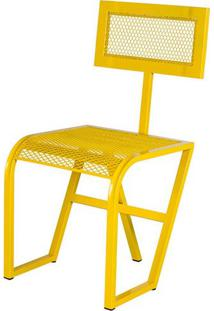 Cadeira Tuli Estrutura Em Tubo Tela Expandida Cor Amarelo - 54244 - Sun House
