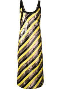 Diane Von Furstenberg Vestido Luisa Com Paetês - Amarelo