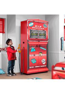 Guarda Roupa Infantil Gas Station Premium Pura Magia