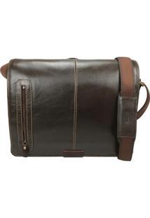 Bolsa Carteiro Masculina Para Notebook Em Couro 1109Sf