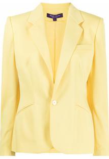 Ralph Lauren Collection Amiya Single-Breasted Wool Blazer - Amarelo