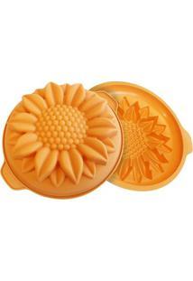 Forma De Silicone Sunflower Silikimart Laranja 26X7Cm - 15980