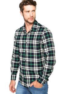 Camisa Colcci Slim Bordado Xadrez