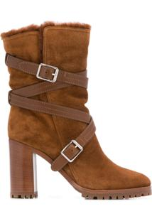 Gianvito Rossi Buckled Ankle Boots - Marrom