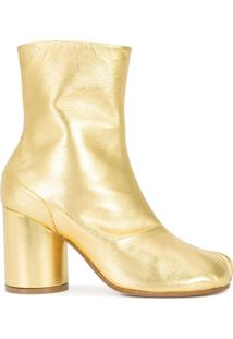 Maison Margiela Ankle Boot De Couro - Metálico