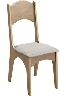 Cadeira 18Mm Assento Estofado Carvalho/Geométrico Dalla Costa