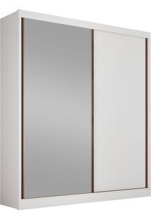 Guarda-Roupa Solteiro Com Espelho 2 Portas Virtus-Novo Horizonte - Branco