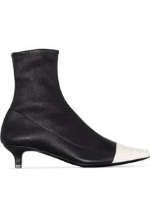 By Far Ankle Boot Karl Com Salto 30Mm - Preto