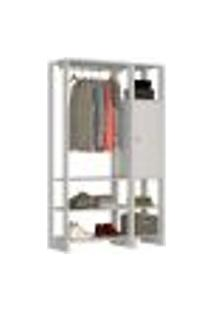 Guarda Roupa Closet 01 Porta 05 Prateleiras Yes Ey101.107 Branco Nova Mobile