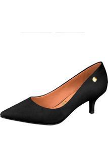 Scarpin Vizzano Básico Salto Baixo Bico Fino Conforto Trend&Comfy Casual Fashion