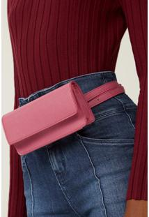 Amaro Feminino Bolsa Belt Bag Flap, Pink