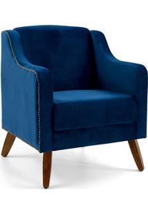 Poltrona Decorativa Clara- Domi Móveis - Azul
