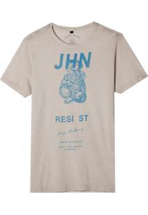 Camiseta John John Rx Jhn Resist Malha Algodão Off White Masculina (Off White, Gg)
