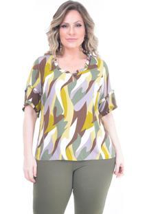 Blusa Plus Size Program: Verde: 46