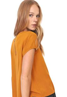 Camiseta Colcci Ampla Caramelo - Kanui