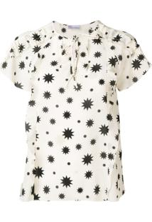 Red Valentino Starry Print Blouse - Neutro