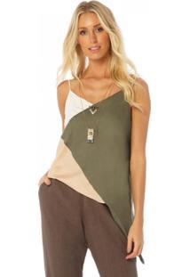 Blusa Sly Wear Assimétrica Verde - Kanui