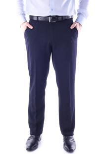 Calça 1491 Social Azul Marinho Traymon Modelagem Regular