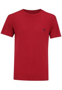 Camiseta Timberland Ss Dunstan River Crew - Masculina - Vermelho