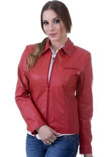 Jaqueta De Couro 9020 Vermelha