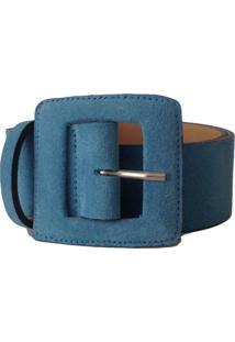 Cinto Couro Camurça Vb Cintos Azul - Tricae